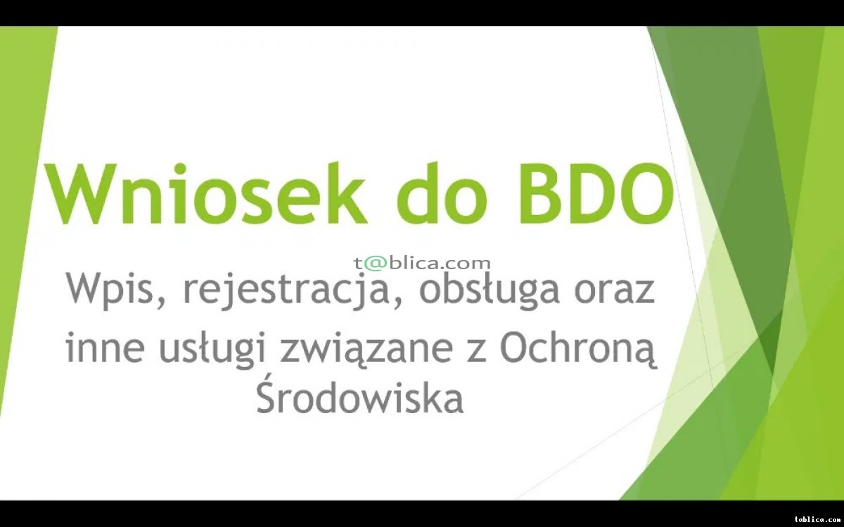Wniosek/Obsługa BDO