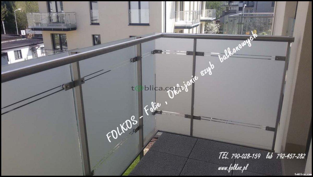 Folia matowa na szklany Balkon -Folie na BALKONY W-wa