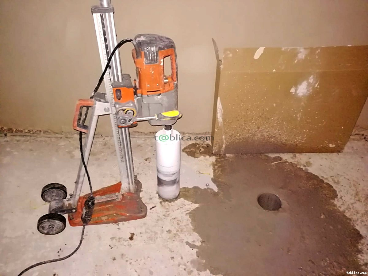 Przewierty, wiercenie w betonie, żelbetonie. Technika