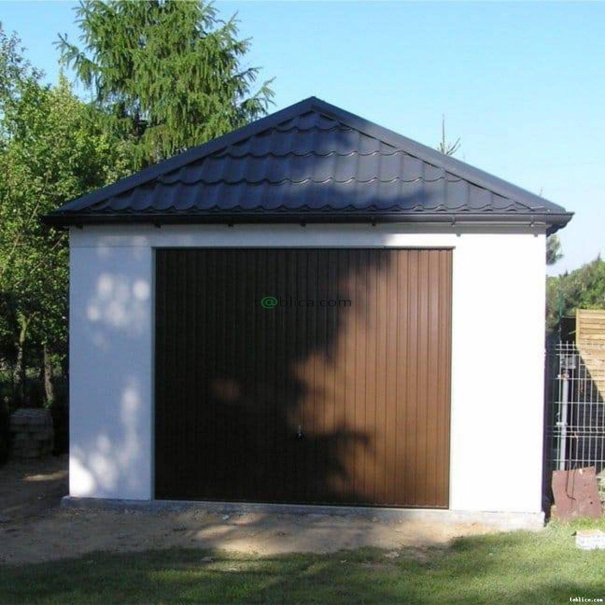 Garaże na zamówienie - blaszane, tynkowane