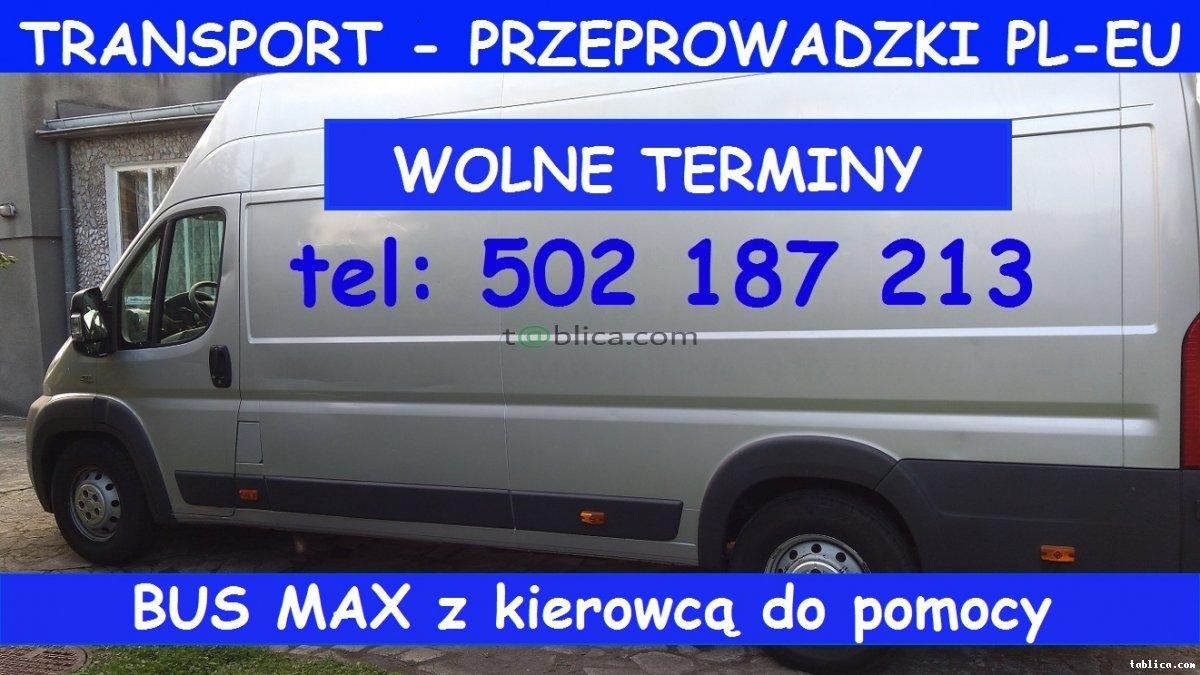 BUS MAX od 50 zł Transport. Przeprowadzki. Przewóz. Ba
