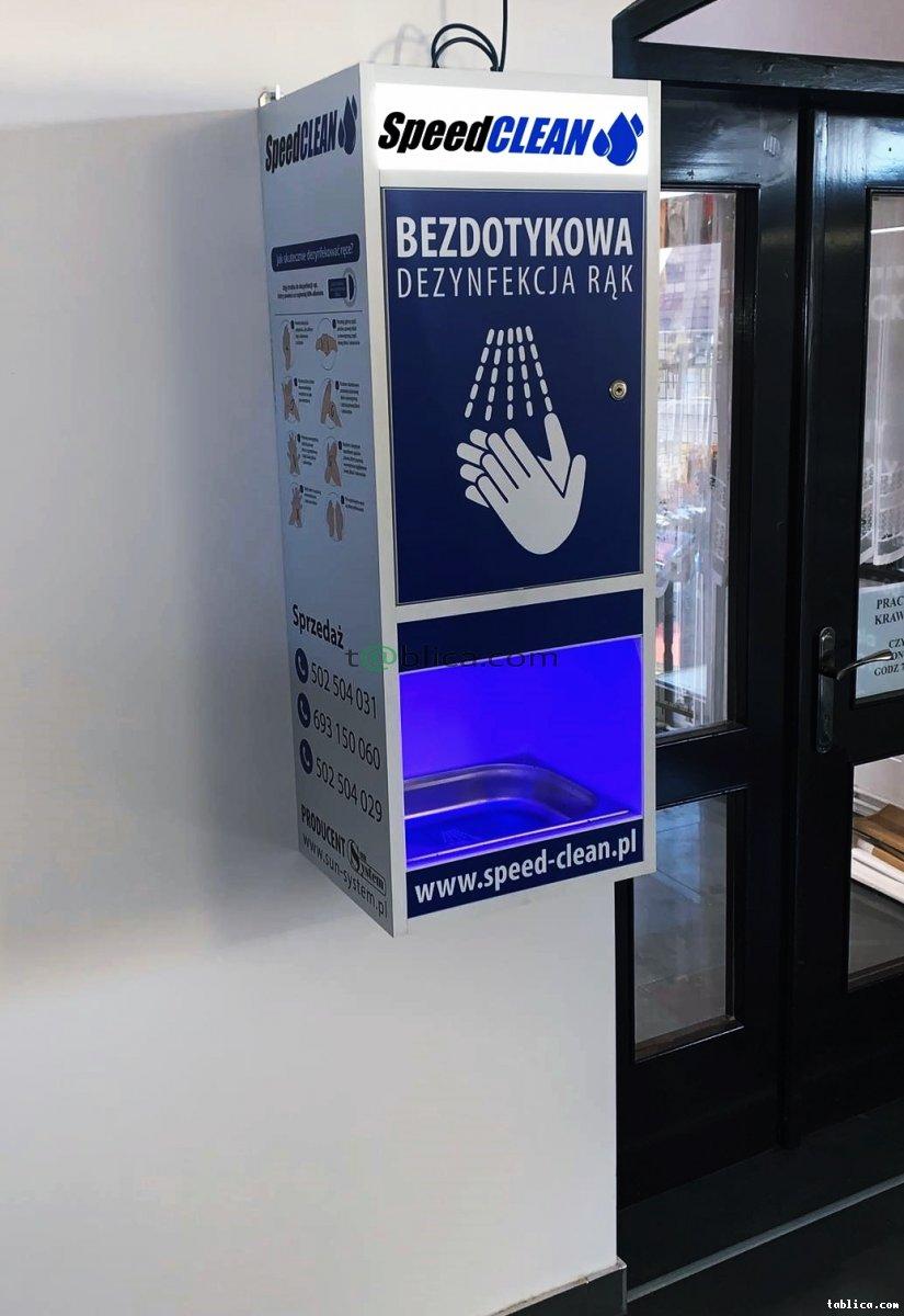 Stacja dezynfekcji dłoni, bezobsługowa, wydajna