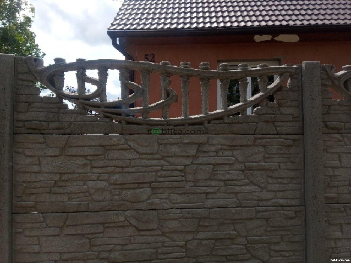 Płot betonowy / betonowe ogrodzenie - Kar-Group Ełk