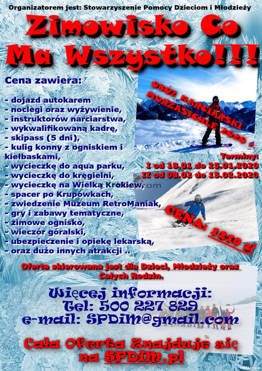 Obóz Narciarski 2020, Zimowisko Co ma Wszystko. SPDiM