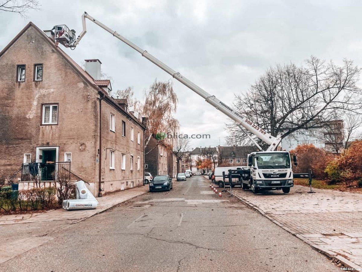 Podnośnik koszowy o wysokości roboczej 30m Łódź