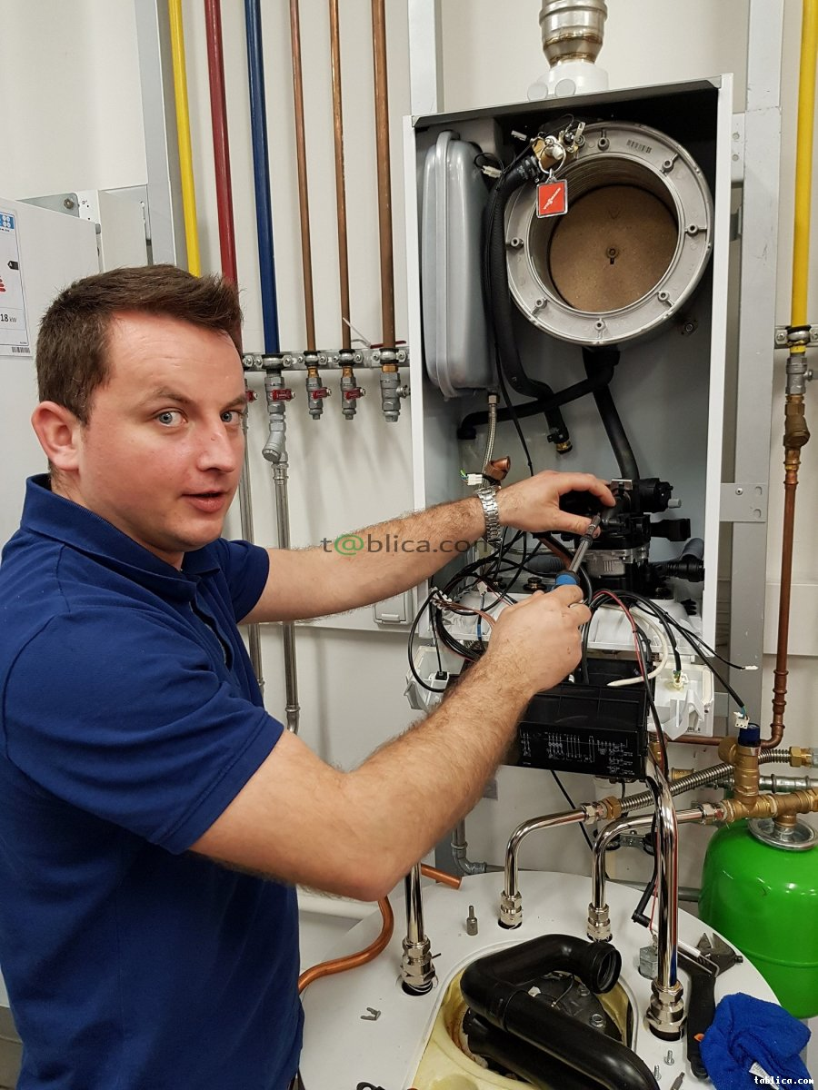 Hydraulik instalacja kocioł gazowy Viessmann, Vaillant, De Dietrich