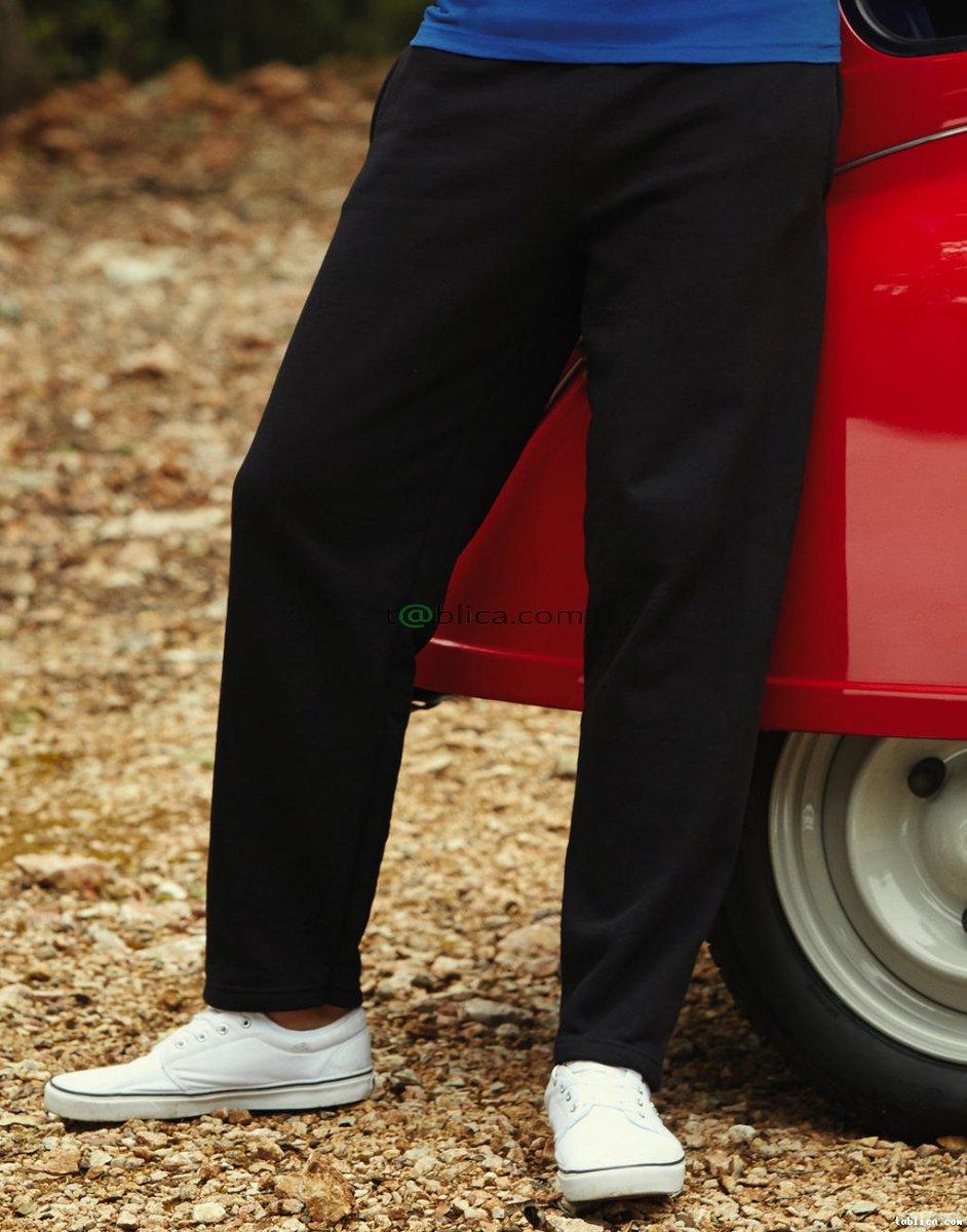BAWEŁNIANE Spodnie dresowe czarne FRUIT of the LOOM