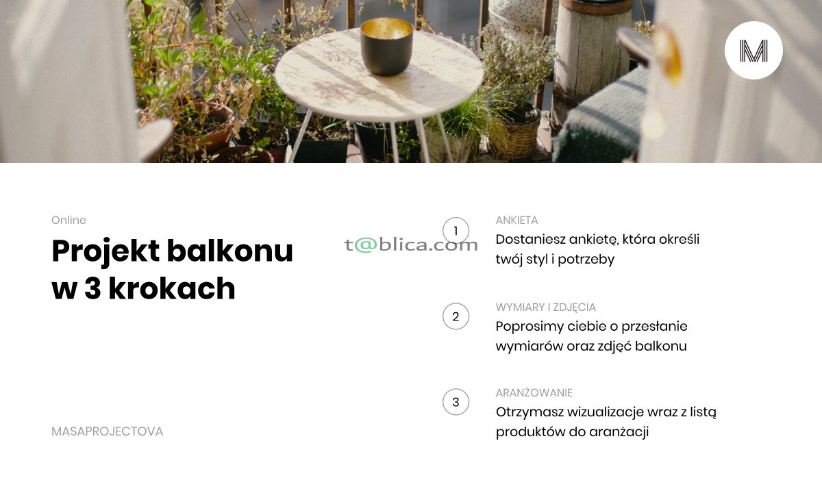 Projekt Balkonu