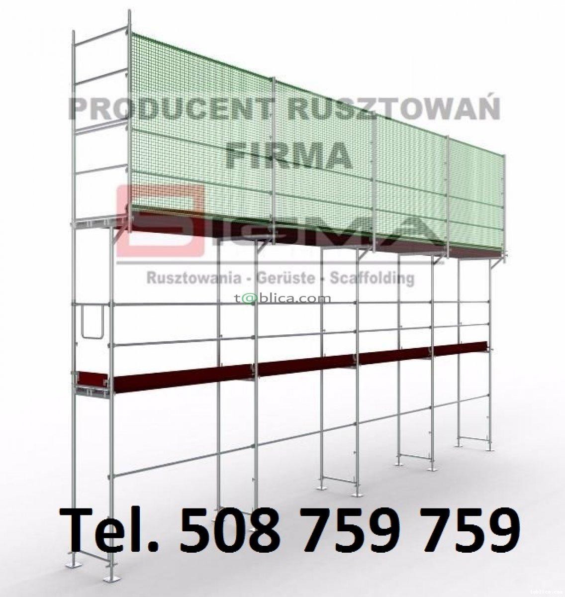Kompletne rusztowanie elewacyjne 390m2 (6,5m x 60m)