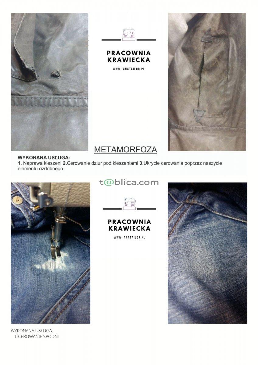 Usługa poprawek krawieckich w spodniach