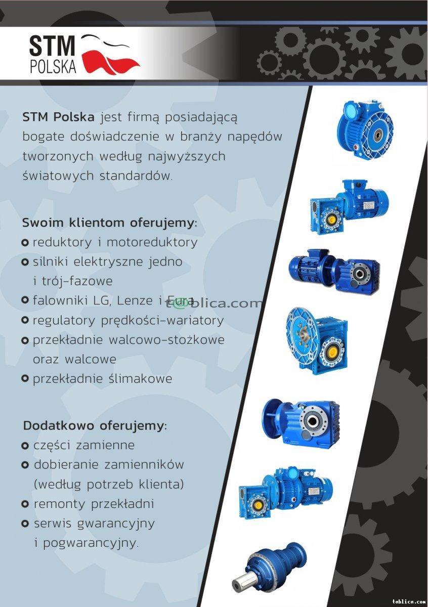 STM POLSKA -> przekładnie,silniki,falowniki,reduktory