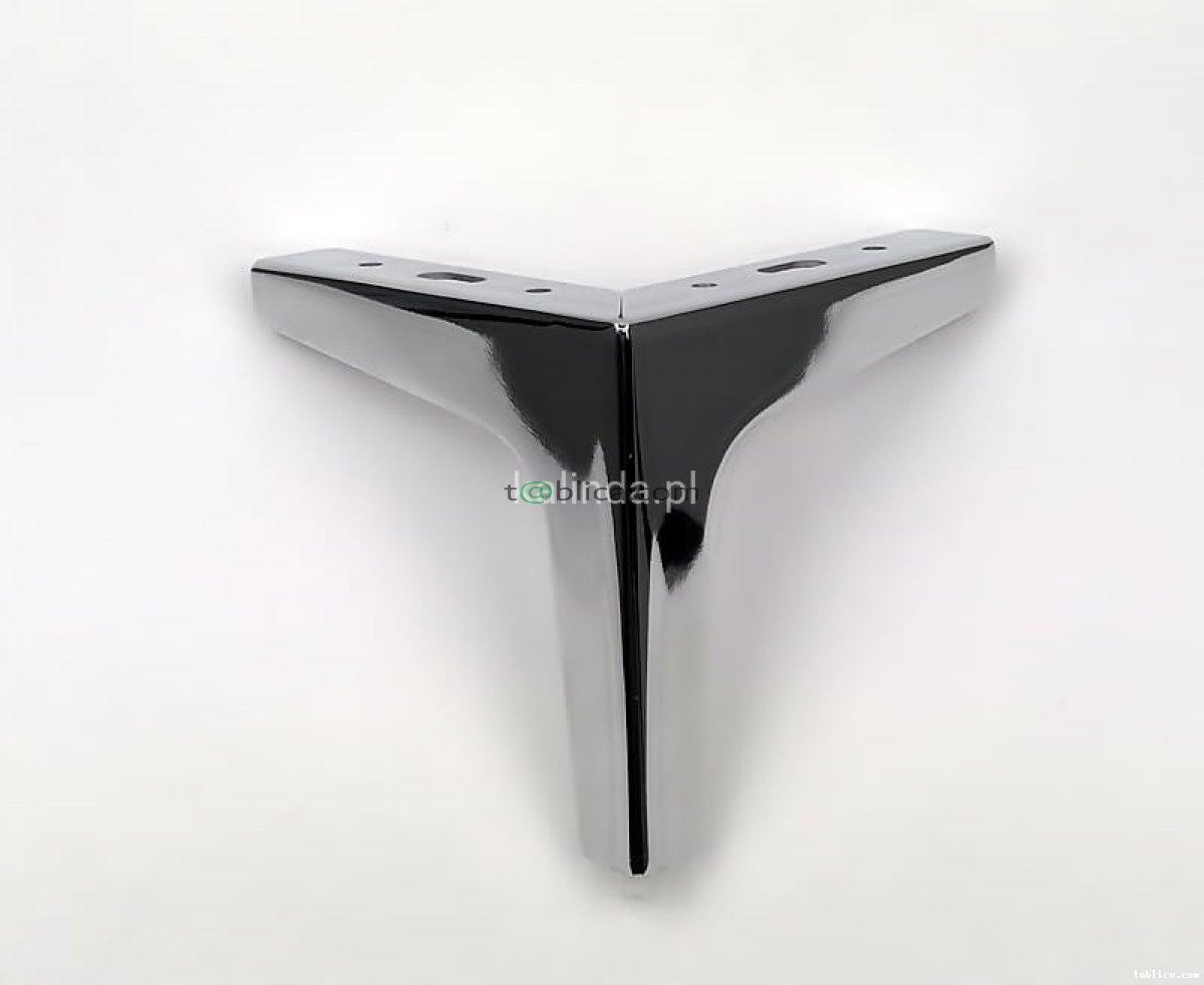 Nóżka do mebli, metalowa, czarna, chrom, h-13,5