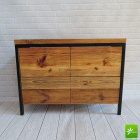 Meble łazienkowe ze starego drewna