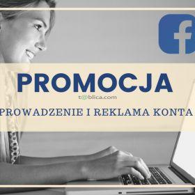 Reklama i prowadzenie konta firmowego na FACEBOOK.