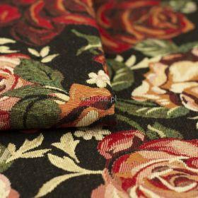 Róże herbaciane, tkanina dekoracyjna, tapicerska